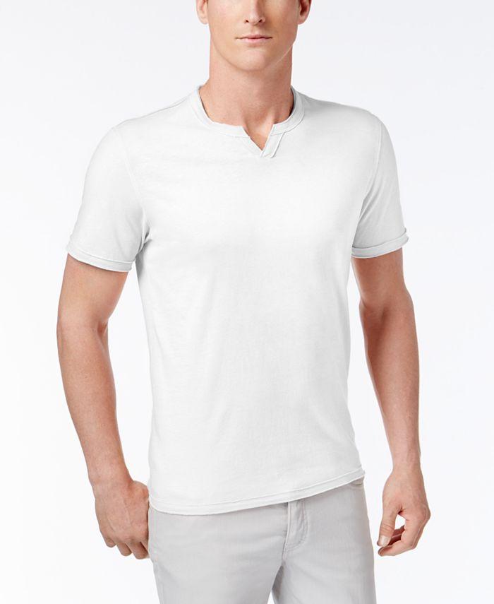 INC International Concepts - Men's Soft Touch Split-Neck T-Shirt