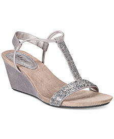 Style & Co Mulan 2 Embellished Evening Wedge Sandals, Created for Macy's