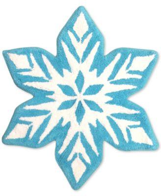 Frozen Snowflake Bath Rug