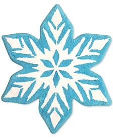CLOSEOUT! Frozen Snowflake Bath Rug