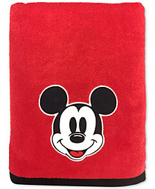 "Jay Franco Big Face Mickey Mouse 27"" x 50"" Bath Towel"