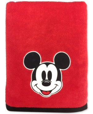 Jay Franco Big Face Mickey Mouse 27 x 50 Bath Towel Bedding