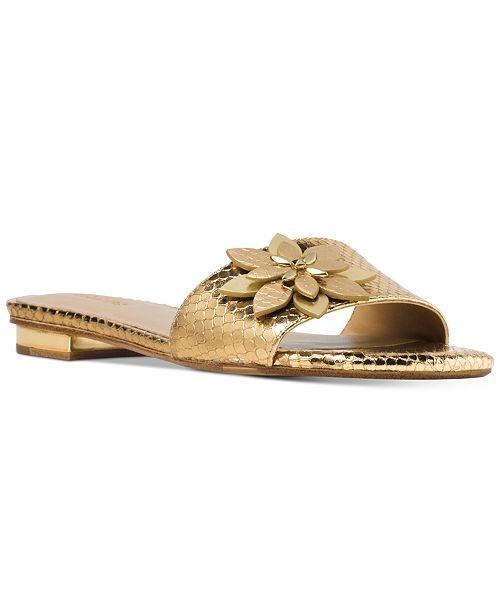 0584cfeca59e Michael Kors Heidi Flat Sandals   Reviews - Sandals   Flip Flops ...
