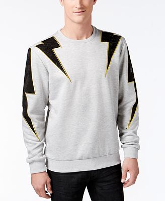 Hudson NYC Men's Studded Lightning Bolt Sweatshirt