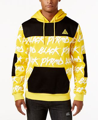 Black Pyramid Men's Text Hoodie