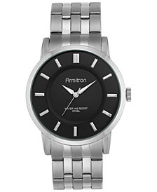 Armitron Men's Stainless Steel Bracelet Watch 42mm 20-4962BKSV