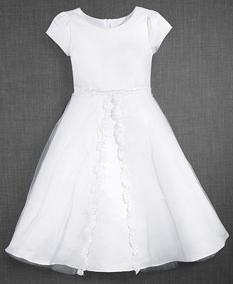 Blush by Us Angels Lace-Trim Communion Dress, Big Girls (7-16)