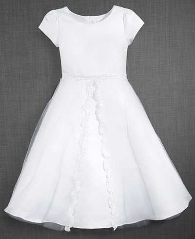 Blush by Us Angels Lace-Trim Communion Dress, Big Girls (7-16)