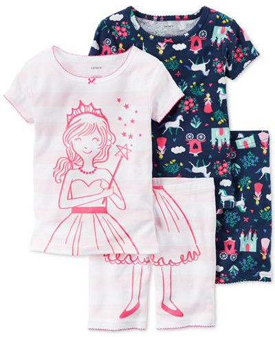 Carter's 4-Pc. Princess Pajama Set, Toddler Girls (2T-4T)