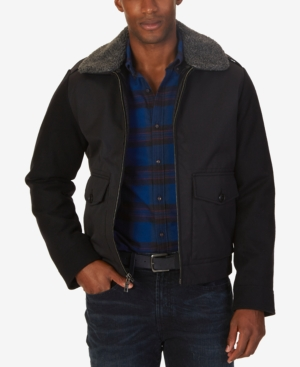 Nautica Men's Fleece-Collar Bomber Jacket