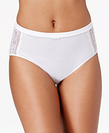 Bali Cotton Desire Lace Hi Cut Brief DFCD62