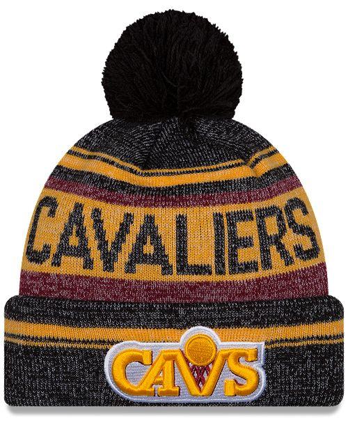 447277f1bdd ... New Era Cleveland Cavaliers Hardwood Classics Snow Dayz Knit Hat ...