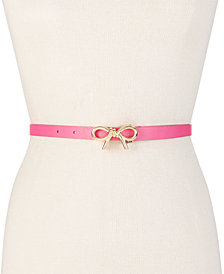 kate spade new york Mini Bow Leather Belt