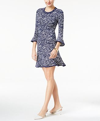MICHAEL Michael Kors Printed Flounce Dress
