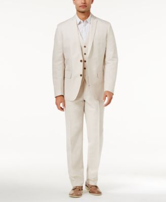 INC Men's Linen Blend Vest, Created for Macy's