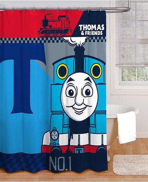 Thomas The Tank Engine Steams Into A Child S Bath With Jay Franco Color Block Accessories And Message That Little Engines Can Do Things