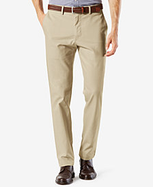 Dockers Men's Stretch Clean Khaki Slim Tapered Fit Pants