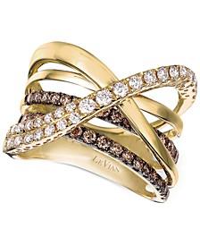 Chocolatier® Gladiator® Diamond Crisscross Ring (1-1/3 ct. t.w.) in 14k Gold