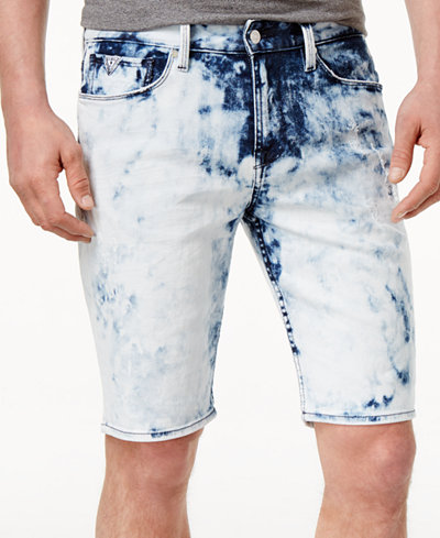 "GUESS Men's Slim-Fit Stretch Denim 11"" Shorts - Shorts - Men - Macy's"
