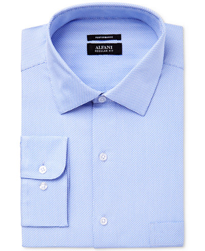 Alfani Men's Classic Fit Performance Twill Textured Dress Shirt, Created for Macy's