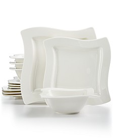 New Wave Collection 12-Pc. Dinnerware Set, Created for Macy's, Service for 4