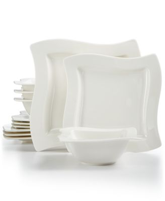 main image  sc 1 st  Macy\u0027s & Villeroy \u0026 Boch New Wave Collection 12-Pc. Dinnerware Set Created ...