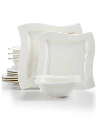 Villeroy & Boch New Wave Collection 12-Pc. Dinnerware Set, Created for Macy's