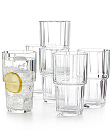 Martha Stewart Collection Set of 6 Highball Glasses, Created for Macy's