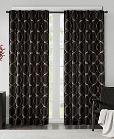 "Madison Park Tamia Embroidered Taffeta  50"" x 95"" Window Panel"