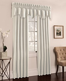 Buckingham Antique Satin Pair of Window Panels and Valance Collection