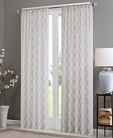 Madison Park Irina Embroidered Diamond Sheer Window Panel Collection