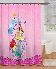 Jay Franco Princess Dream Microfiber Shower Curtain