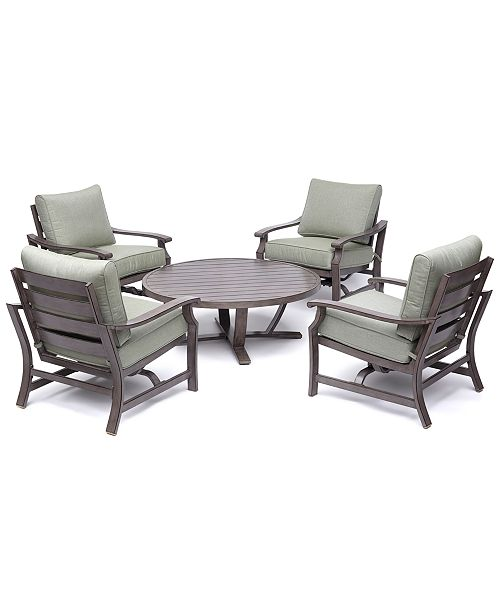 Furniture Tara Aluminum Outdoor 5 Pc Seating Set 48