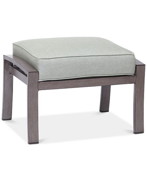Furniture Tara Aluminum Outdoor Ottoman Created For Macy