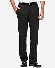 Men's Premium Straight-Fit Non-Iron Stretch Flat-Front Pants