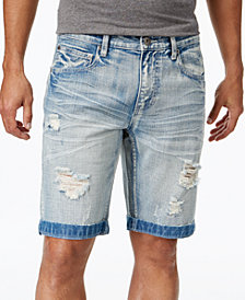 "I.N.C. Men's 11"" Ripped Light Wash Jean Shorts, Created for Macy's"