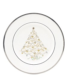 """""""Silver Palace"""" Holiday Accent Plate"""