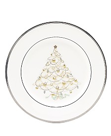 "Noritake ""Silver Palace"" Holiday Accent Plate"