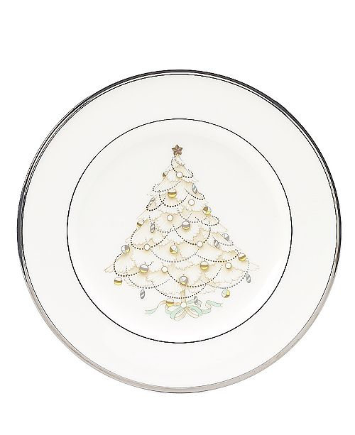 """Noritake """"Silver Palace"""" Holiday Accent Plate"""