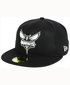 New Era Charlotte Hornets Black White 59FIFTY Cap