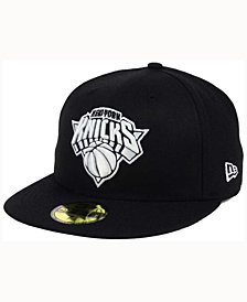 New Era New York Knicks Black White 59FIFTY Cap