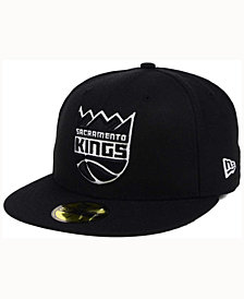 New Era Sacramento Kings Black White 59FIFTY Cap
