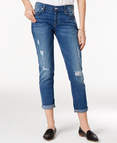 7 For All Mankind Josefina Skinny Boyfriend Jeans - Jeans - Women ...