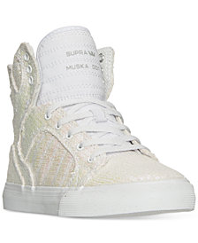 Supra Little Girls' Skytop Sequin High-Top Casual Sneakers from Finish Line