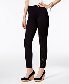 Thalia Sodi Lace-Trim Pull-On Pants, Created for Macy's