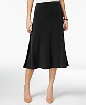 d9022115b2 JM Collection Petite Diagonal-Seam Midi Skirt, Created for Macy's