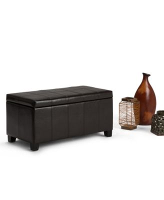 Furniture Poway Faux Leather Rectangular Storage Ottoman, Quick Ship    Furniture   Macyu0027s