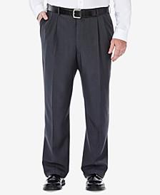 Men's Big & Tall Eclo Stria Classic-Fit Pleated Hidden Expandable Waistband Dress Pants