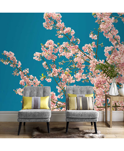 Graham & Brown Cherry Blossom Wall Mural Wallpaper