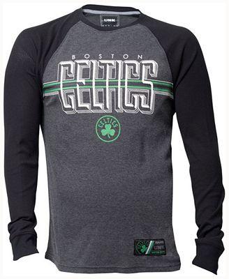 Unk Men's Boston Celtics Co-Captain Thermal Long Sleeve T-Shirt